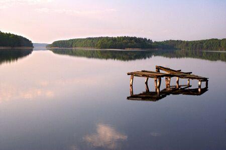 placid: placid lake Stock Photo