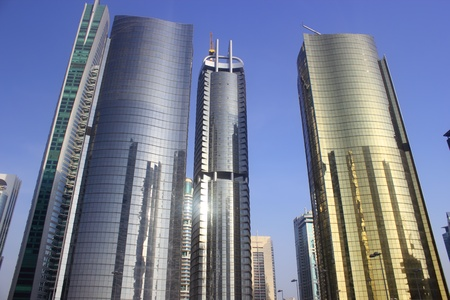 reflective towers photo