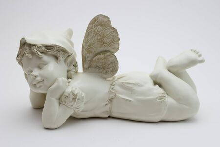 peacefull: lying angel Stock Photo