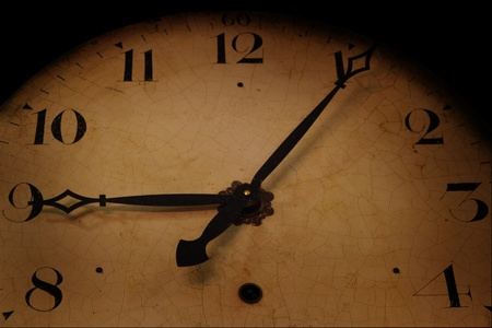 mechanical wall clock photo