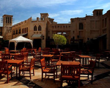 restaurant in madinat souk bazar dubai Editorial