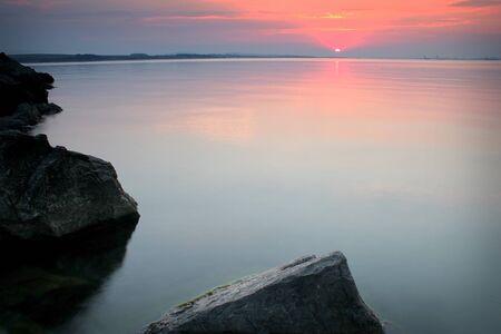 sea rocks at beutifull sunset