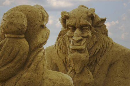 Beauty and the Beast sand figures