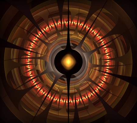 Wheel of Fortune abstract fractal art photo