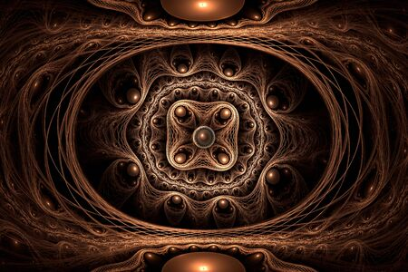 Golden ring abstract fractal art Stock Photo - 19614014