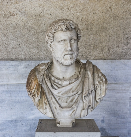 Portrait bust of the emperor Antoninus Plus Stock Photo - 19618948