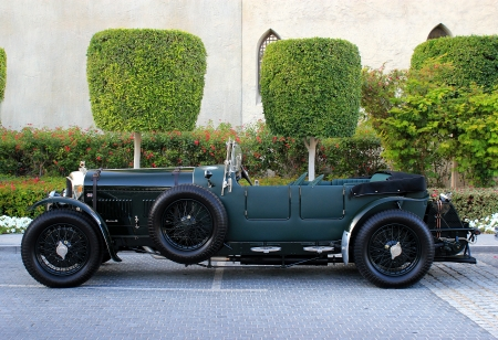 Dubai, UAE - March 09, 2013 : Black Bentley 1925 on display at the emirates classic car festival Dubai, UAE.