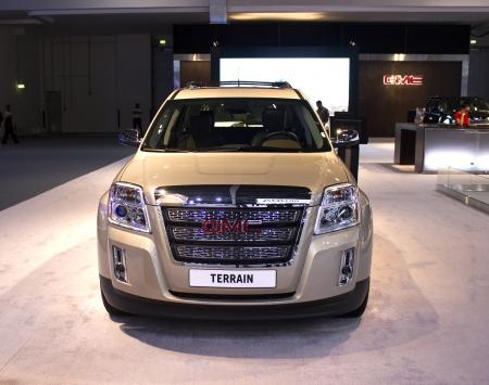 Dubai, UAE - NOVEMBER-14-2011: GMC TERRAIN on display at the Dubai Motor Show, UAE. Editorial
