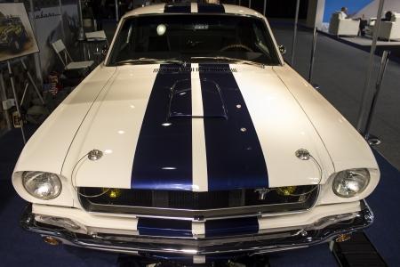 Dubai, UAE - NOVEMBER-14-2011: Shelby GT 360 on display at the Dubai Motor Show, UAE. Editorial