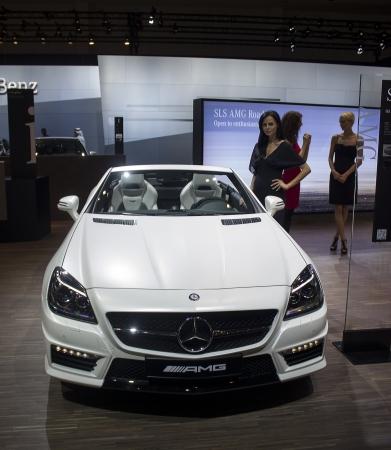 benz: Dubai, UAE - NOVEMBER-14-2011: Mercedes Benz AMG on display at the Dubai Motor Show, UAE. Editorial