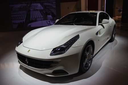 Dubai, UAE - NOVEMBER-14-2011: Ferrari on display at the Dubai Motor Show, UAE. Editorial