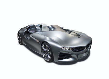New model sport car isolated front side view Stock Photo