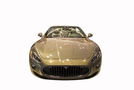 new luxury sport car isolated on white background