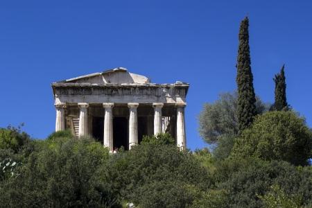 columnas romanas: columnas romanas, adornos, ruinas, Parten�n Foto de archivo