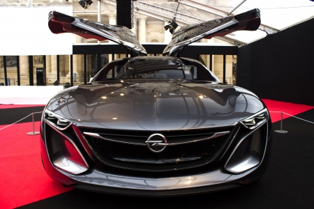 PARIS - JANUARY 30 - Opel Monza, Concept cars exposition on JANUARY 30, 2014 at Les Invalides museum in Paris, France