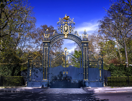 palais: Palais Elysee Paris, gates Editorial