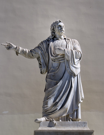 greek philosopher statue photo