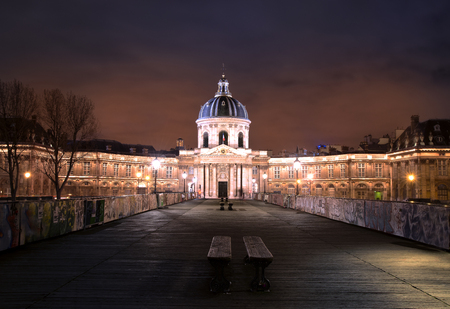 academie: university of paris at night