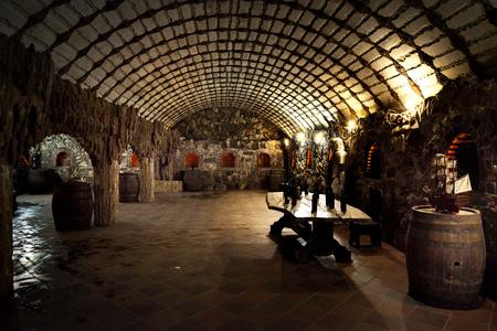 castle wine room