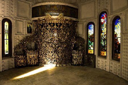 chirch altar, ancient interior