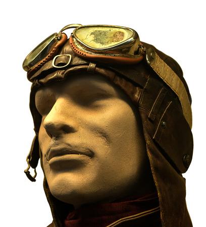 adventure aeronautical: Aviator helmet with glasses