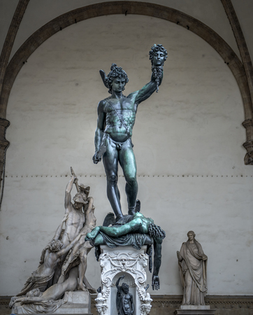 Statue of Perseus Holding the Head of Medusa, front view