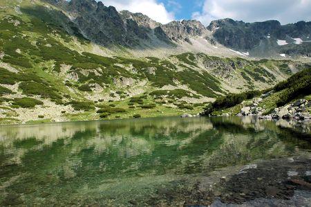 Lake near peak Musala