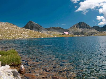 Tevno lake, Pirin Stock Photo