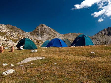 Tourist Tent in the Mountains