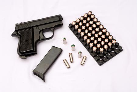 gun with cartridges