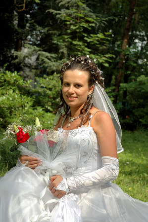 Portrait of the beautiful bride