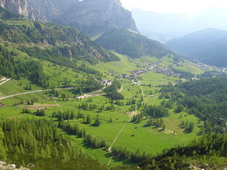 Mountain valley Stock Photo