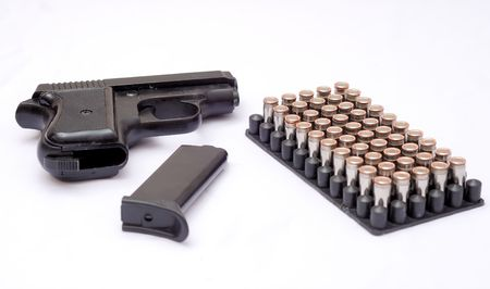 gun with cartridges photo