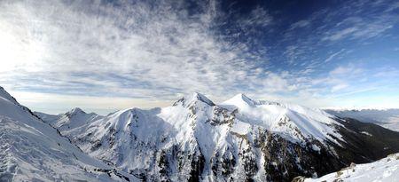 Peaks Vihren and Kutelo in Pirin mountain photo
