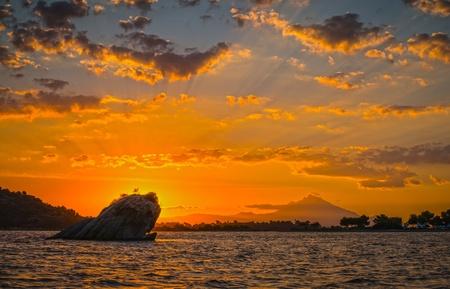 Beautiful sunrise at Sithonia, Greece  with beautiful clouds Stock Photo - 16452375