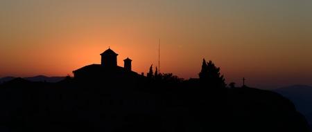 Agios Stefanos monastery at Meteora, Greece sunrice