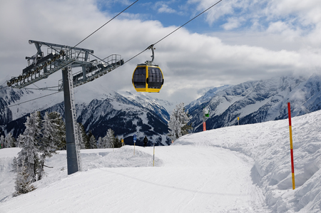 Ski lift in ski area Zillertal, Austria