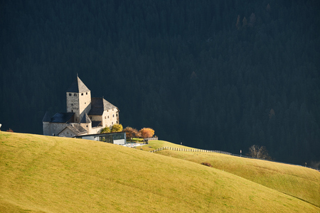 The wonderful castle of the Museum Ladin Ciastel de Tor in South Tyrol - Italy Editorial