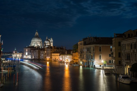 Grand Canal and Basilica Santa Maria della Salute Stock Photo