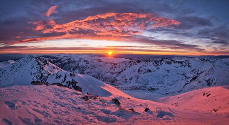 View from peak Musala, the highest peak between the Alps and the Caucasus and the highest in Eastern Europe