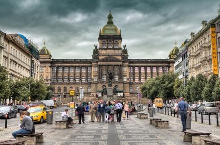 Wenceslas Square in Prague Editorial