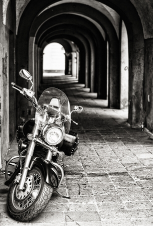 classic chopper, black motorcycle