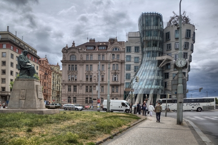 dancing house: Prague. Dancing House,it is nickname is Fred and Ginger House after the famous dancers.