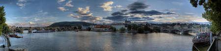 panorama: Panorama of Prague, Czech Republic