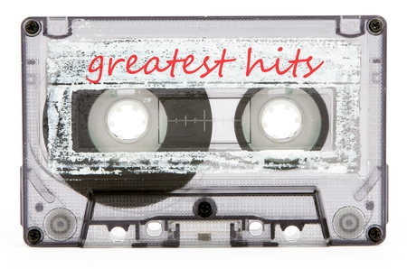 electronic 80s: cassette tape isolated