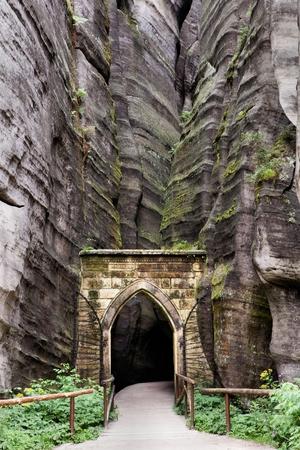 sudetes: National Park of Adrspach-Teplice Rocks. Rock Town. Czech Republic