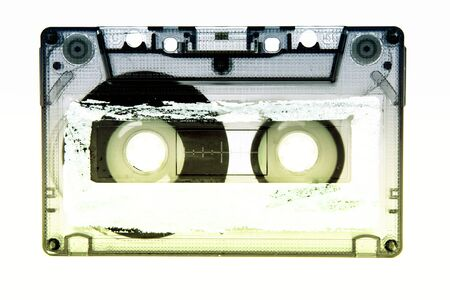 xwhite: old and vintage cassette tape isolated Stock Photo