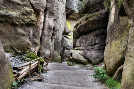 sudetes: National Park of Adrspach-Teplice Rocks. Rock Town. Czech Republic