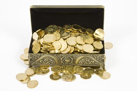 gold casket