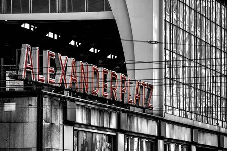 railroad station: Railroad station Alexanderplatz in Berlin, Germany